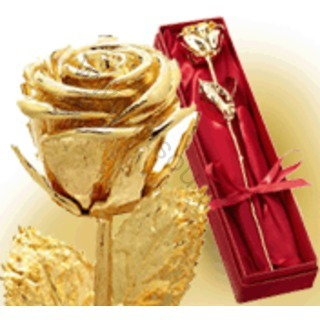 Rose Doree A L Or 24 Carats Personnalisee
